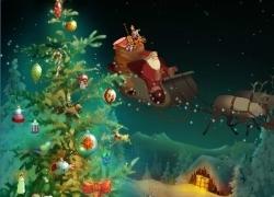 Дед Мороз на оленях
